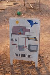 Werbung für Solaranlagen in Fada