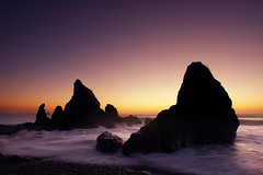 I Love the Washington Coast! (David M Hogan) Tags: ocean sunset seascape beach silhouette coast washington waves pacific dusk rubybeach olympicnationalpark seastack onp davidhogan