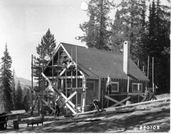 CCC crew constructing a guard station at the B...