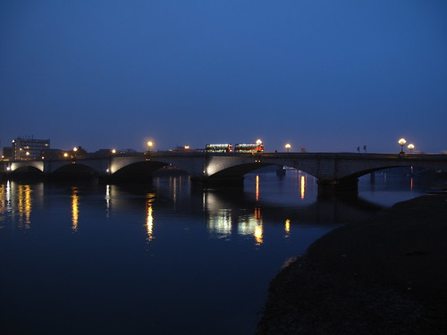 Putney Bridge and its reflection on the Thames