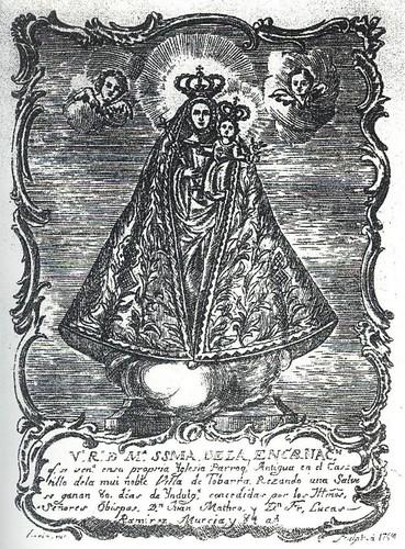 Virgen de la Encarnación - Dibujo 1784