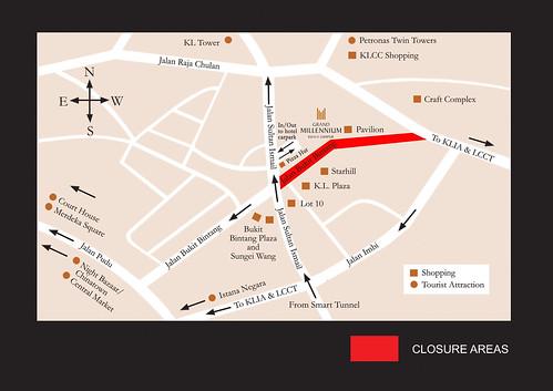 Bukit Bintang Road Closure Notice For