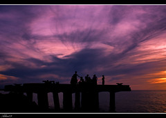Hang'n  around (rev_adan) Tags: sunset sea port canon eos philippines magenta oriental revo misamis naawan 40d revadan