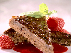 Sandra Lee's Triple Raspberry Brownie