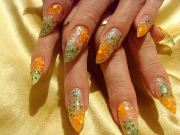 рисунки на ногтях осень: