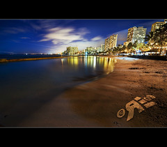 Waikiki Beach City Lights (Ryan Eng) Tags: beach night lights hawaii waikiki oahu honolulu frontpage dri sigma1020mm explore2 nikond90 ryaneng