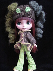 Forest Greens  Granny Madge set (polly :)) Tags: hat doll jacket blythe granny madge