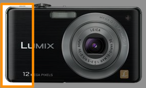 Compared to the FS25, the Panasonic DMC-FS15 has no prominent grip