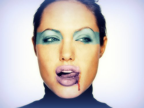 Angelina Jolie, Face, Make up, eyes, Lips