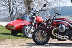 2007 Apr 08 -D80- 015 (urs.guzziworld) Tags: moto motoguzzi guzzi gespann fotoshooting seitenwagen 20070408