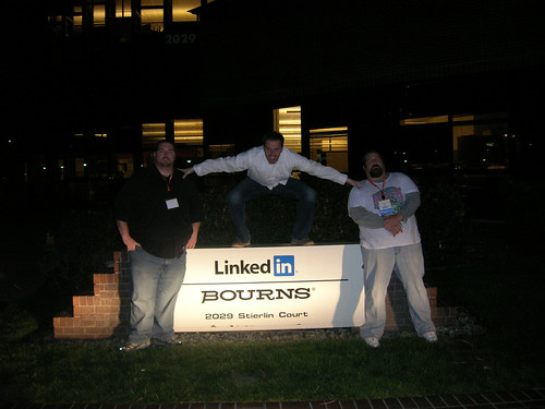 Andrew Melchior, David Mink, and Mat Siltala at LinkedIn