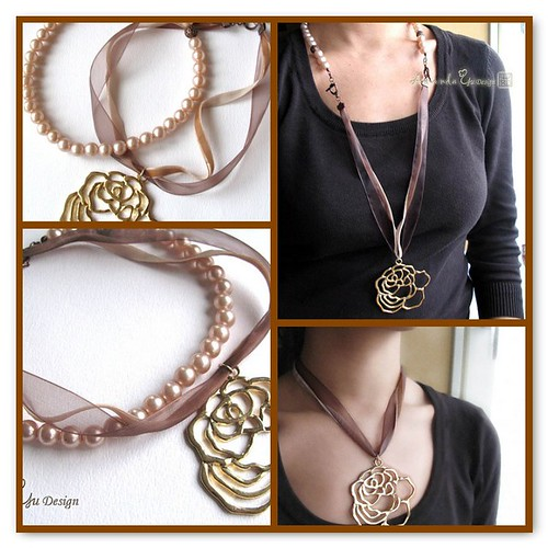 Grace - OOAK versatile necklace can be wore in four ways
