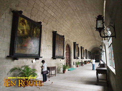 San Agustin Church Garden Hallway