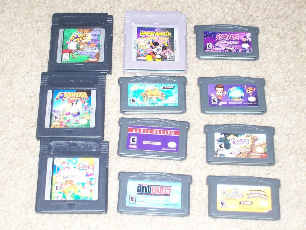 GB + GBA Games 4-4-09