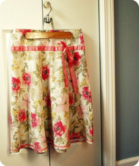 thrifted skirt refashion