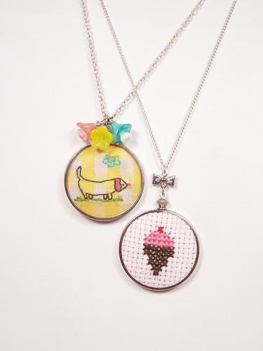 needlepoint necklace