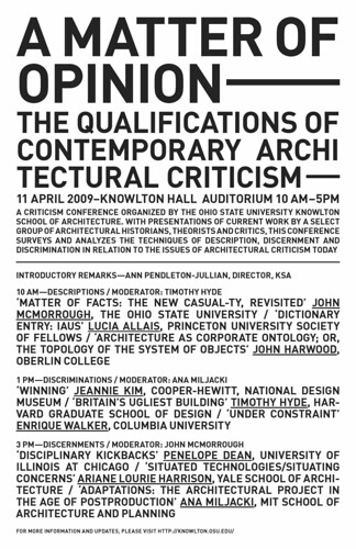 A Matter of Opinion | Blogs | Archinect on mershon auditorium ohio state university, haverfield house ohio state university, jones tower ohio state university, drackett tower ohio state university, dreese laboratories ohio state university, worthington building ohio state university,