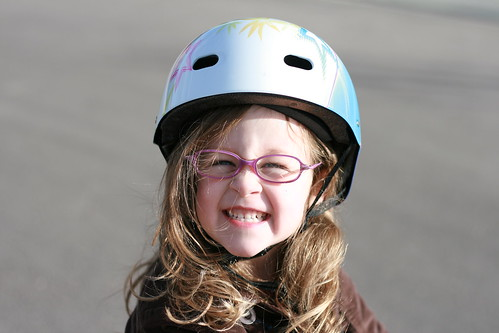 Abby on her bike