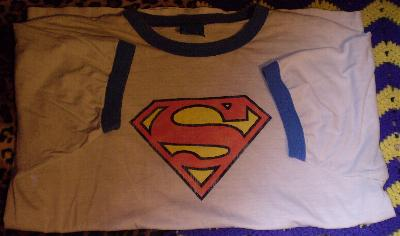 white Superman t-shirt #2