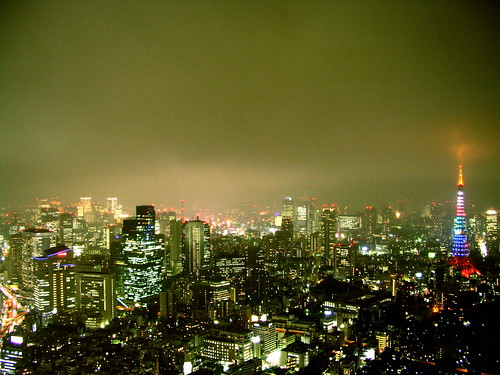a night view of Tokyo