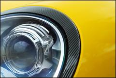 Eye of the tiger (Olaf Stofferis) Tags: auto 2 holland yellow 50mm nikon arnhem 911 nederland sigma convertible porsche d200 nikkor geel 4s carrera mkii cabriolet 997 gelderland sportcar 70300 sportwagen pdk raceauto