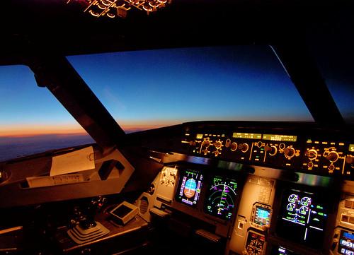 Airbus A330 Cockpit at Night A330 Cockpit at Night Saturday