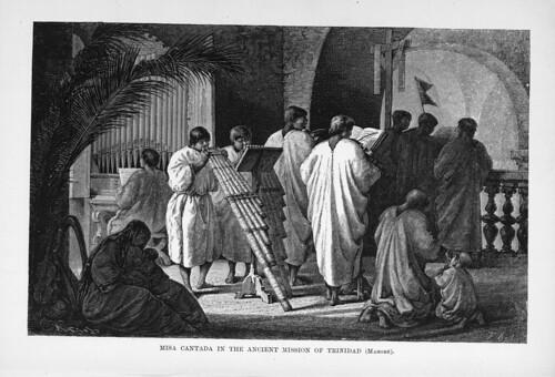 010-Los Ríos Amazonas y Madeira 1875- Misa cantada en la antigua mision de Trinidad