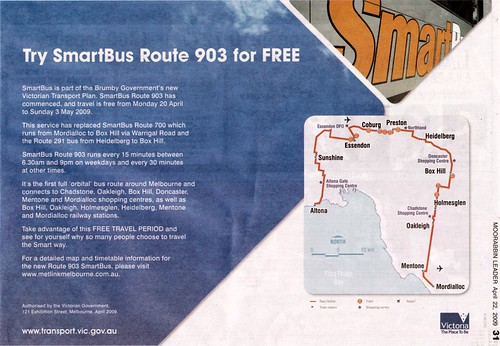 Advert for new Smartbus route 903