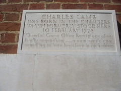 Photo of Charles Lamb grey plaque