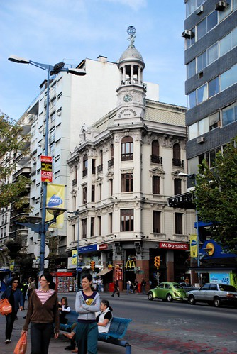 streetscape, Montevideo, with McDonalds