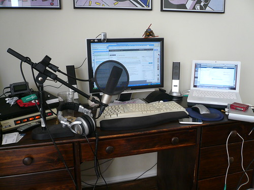 podcasting setup