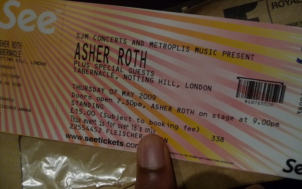 Asher Roth Tabernacle Tkts