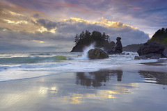 Trinidad Surf - Humboldt County, California (PatrickSmithPhotography) Tags: ocean california travel sunset sea wallpaper sky cloud seascape reflection beach nature water rock canon landscape humboldt interestingness sand surf searchthebest wave trinidad 5d eureka moonstonebeach mkii moonstone 1740l frhwofavs visipix photocontesttnc09 bestwishestnc09 photocontesttnc10