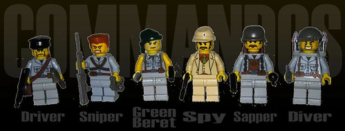 Commandos custom minifigs