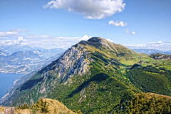 Monte Baldo, Malcesine, Lake Garda, Italy (sminky_pinky100 (In and Out)) Tags: travel italy mountain tourism landscape high europe view scenic peak skiresort picturesque malcesine lakegarda montebaldo blueribbonwinner personalbest 5photosaday bej mywinners omot platinumphoto colorphotoaward eyejewel goldstaraward vosplusbellesphotos