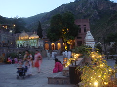saidpur village - temples & picture gallery (tango 48) Tags: trees pakistan red people plants green lights golden maroon hill decoration islamabad saidpur picturegallery