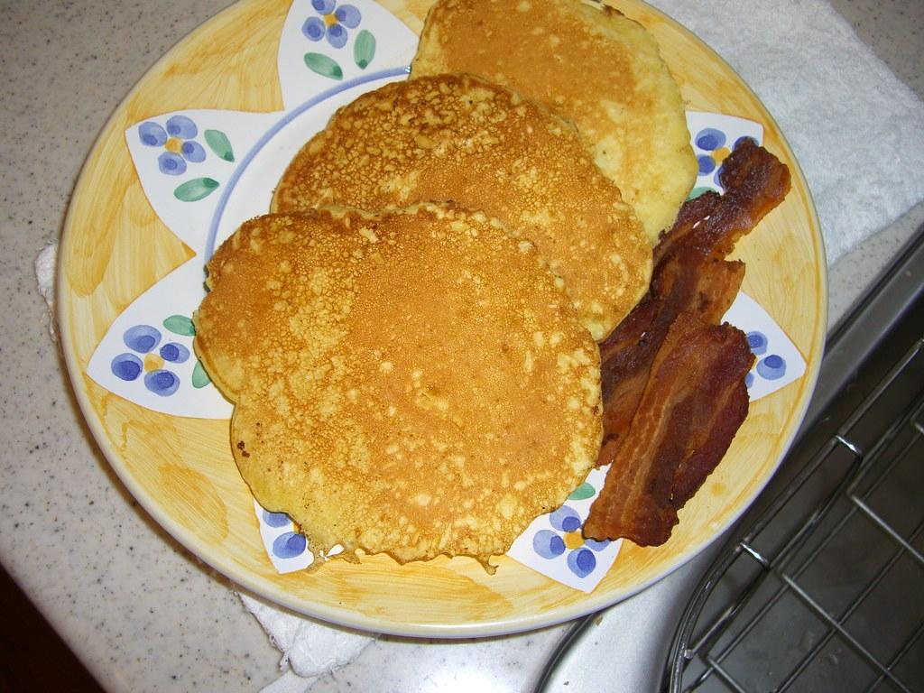 pancakes & homemade bacon