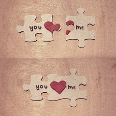 puzzle (csicsagatya) Tags: love me heart you puzzle te n szv szerelem kirak