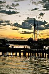 night without my canon... (Kaire K) Tags: light sunset sea sky boat tnsberg nikond90 platinumheartaward vanagram kanalbru