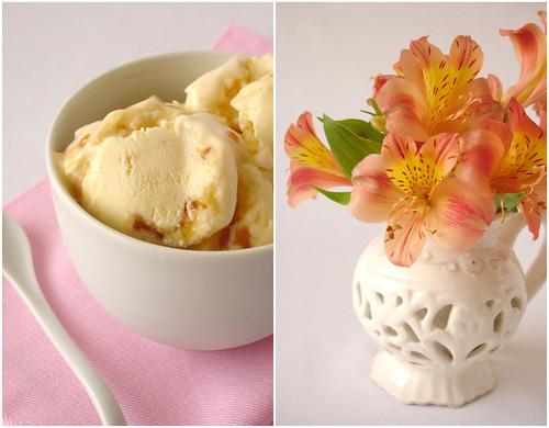 Creme brulée ice cream / Sorvete de creme brulée