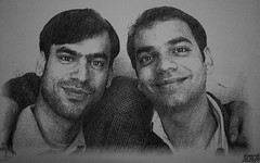 brothers in arms (dr_vaibhavahuja) Tags: new old portrait classic happy eyes bright brothers sketching smiles doctors evident