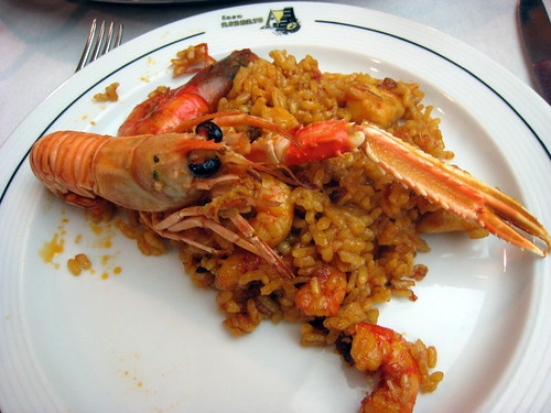 Langoustine on paella.