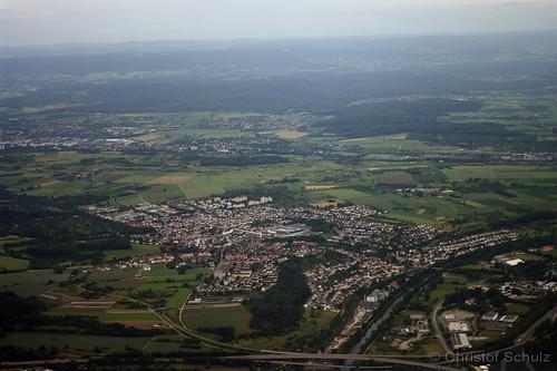 Beim Anflug auf Stuttgart