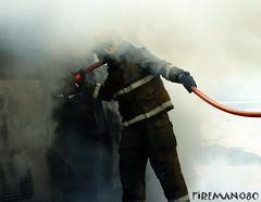 in the smoks (PhotoGrapherQ80 KWS) Tags: fireman firemen firefighter adel abdeen