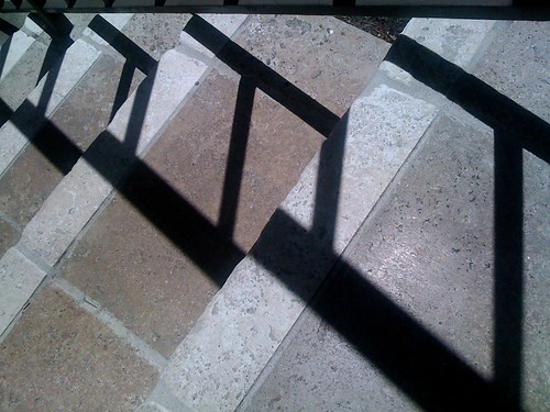 Shadow Moves Across The Stairs