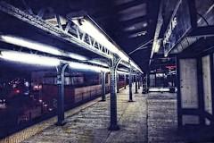 Deserted Gritty Subway Platform