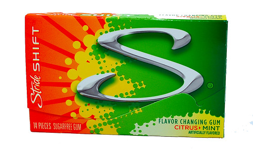 Stride Shift Citrus > Mint Flavor Changing Gum