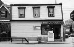 9 Kintyre Ave - 2 - April 4, 1998 (collations) Tags: toronto ontario architecture documentary vernacular streetscapes builtenvironment cornerstores conveniencestores urbanfabric varietystores