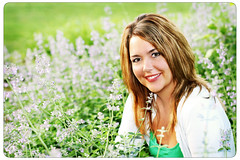 My Friend Brandi (Suzanne Pyle Photography) Tags: flowers portrait woman girl friend mother lavender portraiture brandi browneyes pikecounty suzannemarie