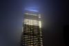 Goldmans Ingot (Several seconds) Tags: mist newyork night dark downtown glow manhattan shroud newbuilding goldman goldmansachs henrycobb 200weststreet